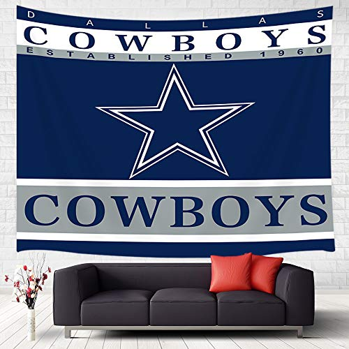 (JAWO Dallas Cowboys Tapestry Wall Hanging Art Home Decor, Custom Colourful Dallas Cowboys American Tootball Team Wall Tapestry for Bedroom Living Room College Dorm Wall Decor, 71x60inches)