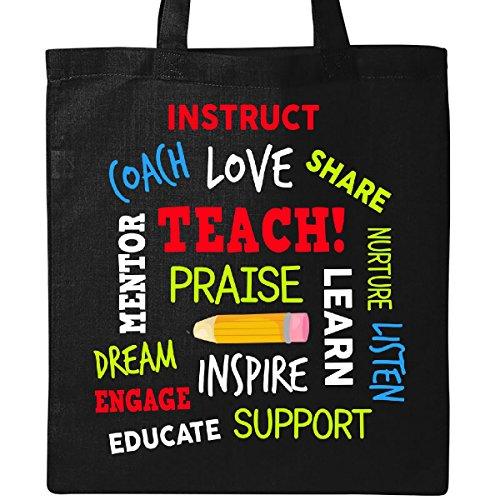 Inktastic Teacher Word Salad with Pencil Tote Bag