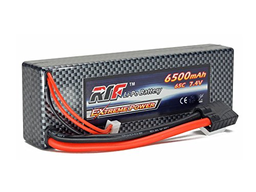 7.4V 6500mAh 2S Cell 65C-130C HardCase LiPo Battery Pack w/ Traxxas High Current Style Connector w/ WARRANTY - Giant Power, Dinogy, Extreme Power, RTF