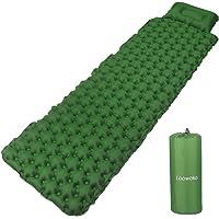 Loowoko Camping Sleeping Pad Bags Inflatable Air Mattress Ultralight Portable Inflating Sleep Mat for Outdoor Hiking…