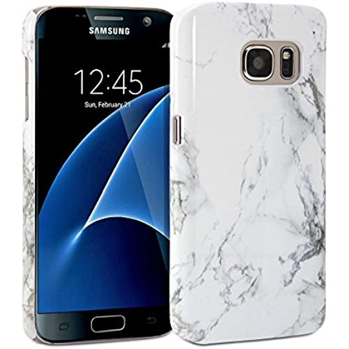 Galaxy S7 Case, GMYLE Case Cover Marble for Galaxy S7- White Marble Pattern Slim Hard Back Case Sales