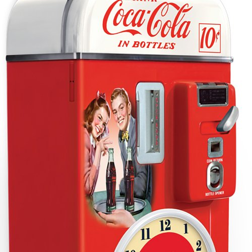 Wall decor coca cola time for refreshment vending machine for Coca cola wall mural