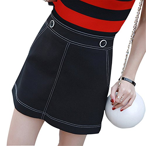 Xingyunlin New Summer Style Women Skirt A-line High Waist Short Skirts Vintage Woman Mini Jeans Skirt S-XXL blue - Vancouver In Mall