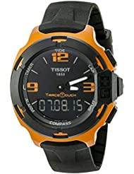 Tissot Mens T0814209705703 T-Race Touch Aluminum Watch with Black Band