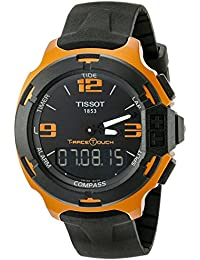 Men's T0814209705703 T-Race Touch Aluminum Watch with Black Band