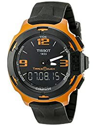 Tissot Men's T0814209705703 T-Race Touch Titanium Watch with Black Band
