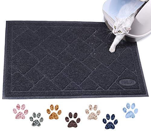 "Vivaglory Cat Litter Mat with Large Size (35""×23"")"