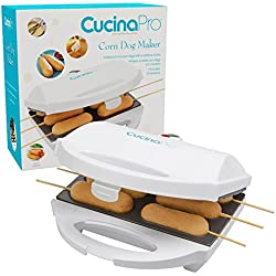 Hot Dog on a Stick Maker - Makes Cake Pops and More - Includes Skewers and Recipe Book