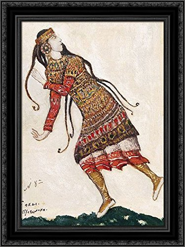 Sketch of costumes for The Rite of Spring 24x18 Black Ornate Wood Framed Canvas Art by Nicholas (Nicholas Roerich Rite Of Spring Costumes)