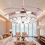 chandeliers kitchen - Huston Fan Modern Ceiling Fan Light 42-inch Brushed Nickel Ceiling Fan With Remote Control Chandelier With Fan Contemporary Chandelier Ceiling Fan Golden