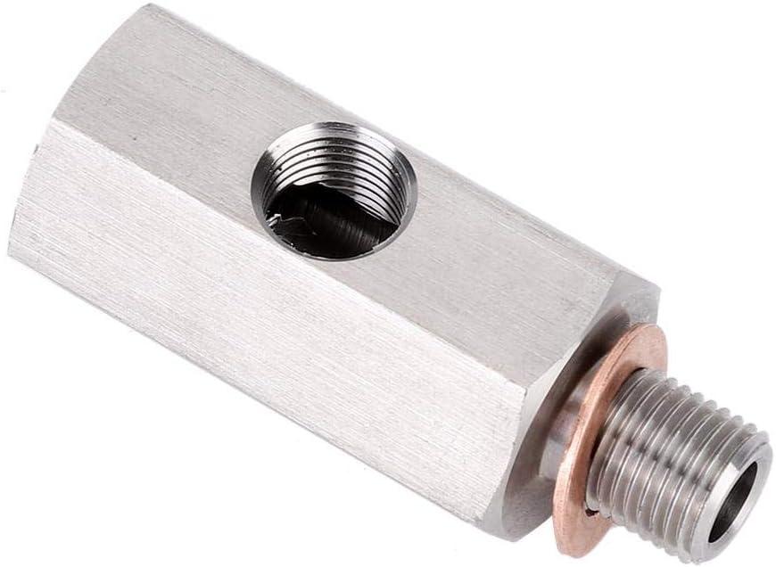 Tee sensore pressione olio 1//8in NPT femmina M10X1 adattatore turbo maschio e femmina