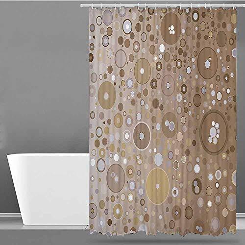 XXANS Shower Curtain,Tan,Shower stall Curtain,W36x72L Light Brown Lilac