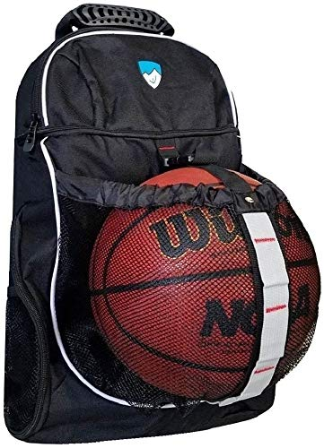 Hard Work Sports Basketball Backpack with Ball Compartment - Mesh Ride Jersey
