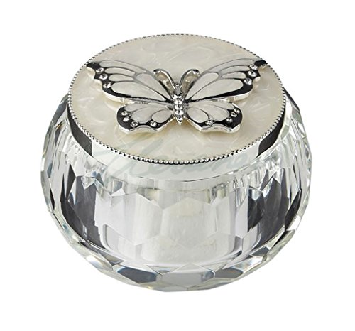 t Box Silver Butterfly 3 Inch L (Tin Box Statue)
