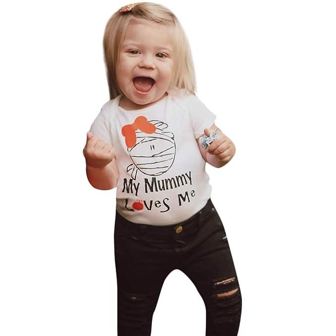 Bestow Camiseta de Mangas Estampado de Letras Momia de Mangas Cortas para niños de niños y niñas Víspera de Todos los Santos: Amazon.es: Ropa y accesorios