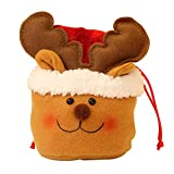 A AURA Christmas Drawstring Bags, Christmas Kids Gift Bags Snowman Treat Bags, Bags for Party Favors Gifts and Candy (1/3/5-Pack) (#C)