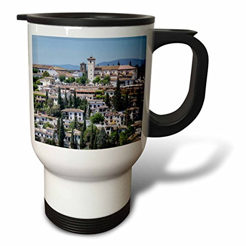 3dRose Danita Delimont - Spain - Spain, Andalusia. Granada. View across a spanish town. - 14oz Stainless Steel Travel Mug (tm_277890_1) by 3dRose