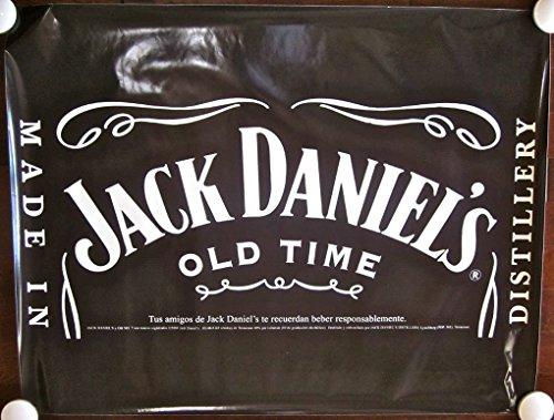 JACK DANIELS - ORIGINAL 1980 SPANISH VINYL ADVERTISING POSTER - COOL LARGE SIZE
