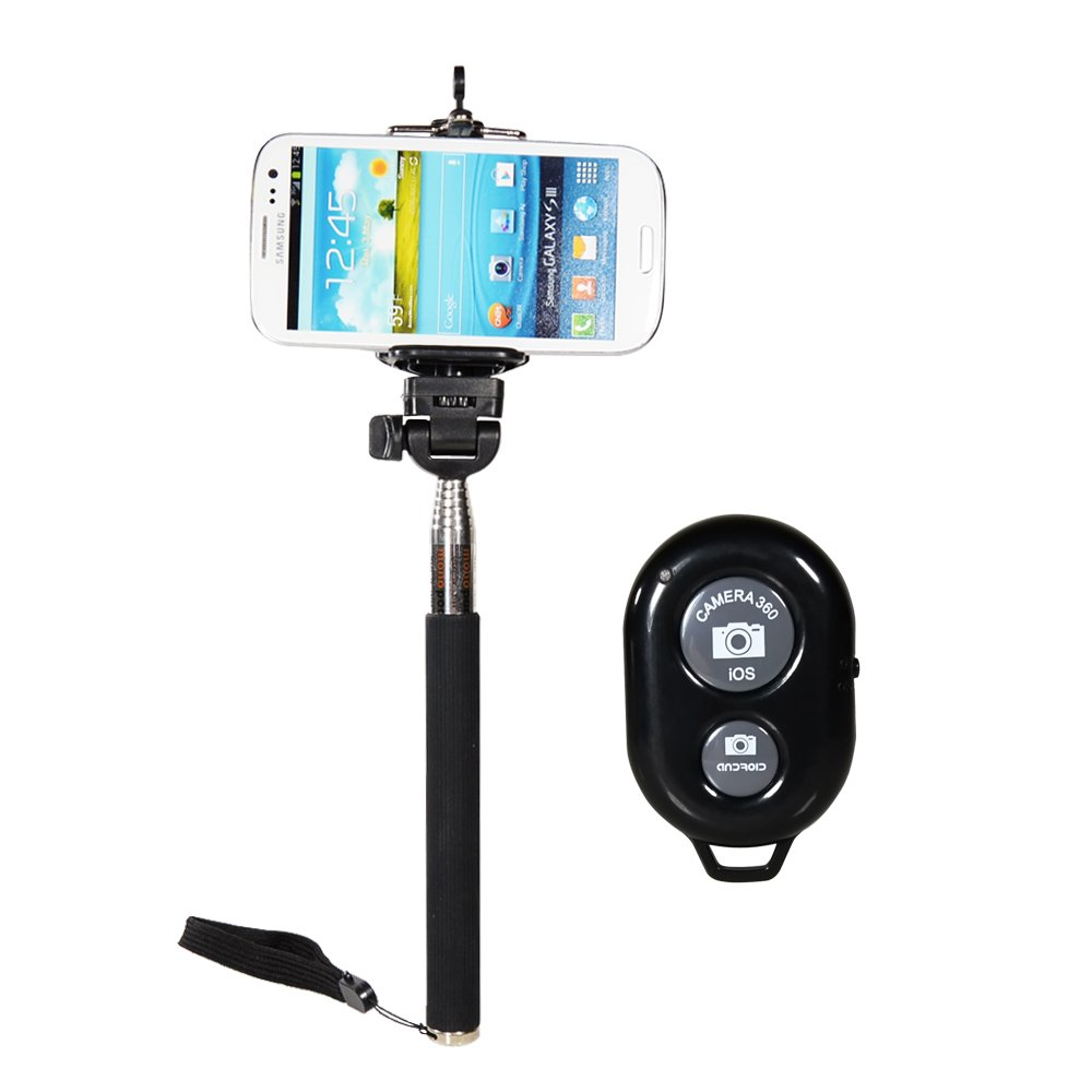 CamDesign 3 in 1 Bundle Extendable Handheld Monopod + Adapter + Bluetooth Remote Shutter for IOS Android Smartphone Iphone 6 plus 6 5 5s 5c 4s 4, Sony Xperia, HTC New One and X, Samsung Galaxy S3 S4 S5 Note 1 2 3 4 Galaxay Tab 2 Note8 10.1, Google Nexus 4