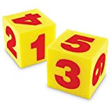 Learning Resources Giant Soft Numeral Cubes (Set of 2)