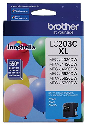 Brother Printer LC203C High Yield Ink Cartridge, (Cyan Brother Ink)