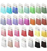 EuTengHao 150Pcs Keychain Tassels,Leather Tassels Blanks Keychain Charms Bulk for Sewing DIY Key ...