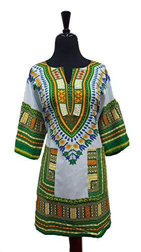 Traditional Unisex 100% Cotton Afrcan Dashiki Top Free Size S-XXL