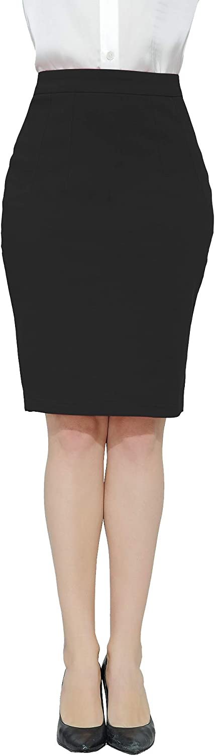Marycrafts Women's Work Office Business Pencil Skirt