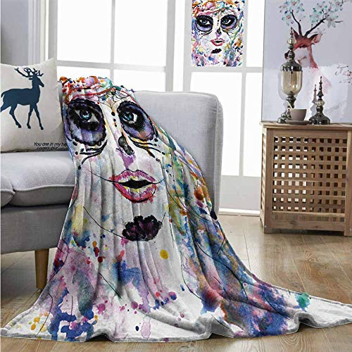 Degrees of Comfort Weighted Blanket Sugar Skull Halloween