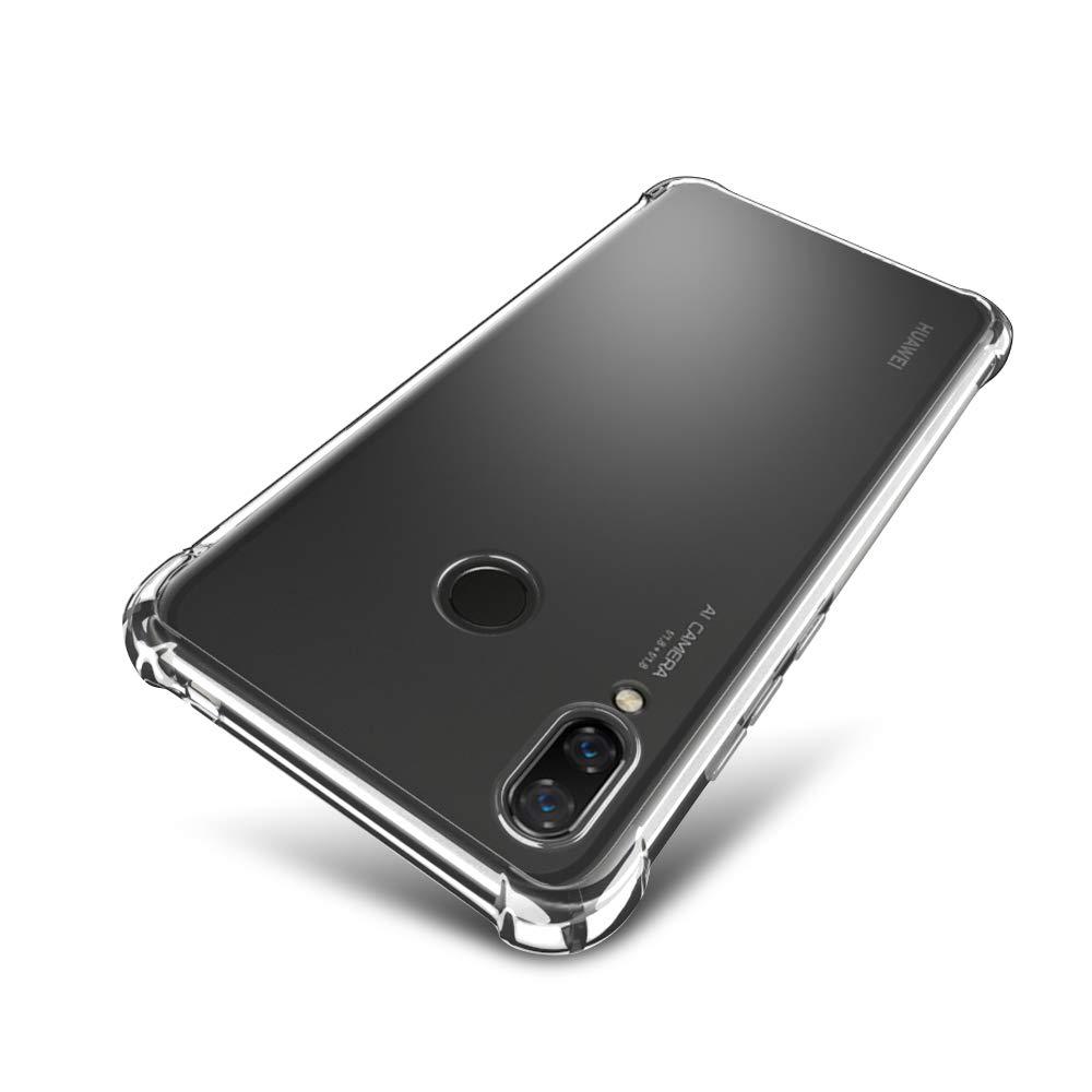Huawei Nova 3 Case - SLEO [Air Cushion] Flexible Soft TPU Bumper Case with Shock-Absorption Back Protective Phone Cover for Huawei Nova 3, Clear