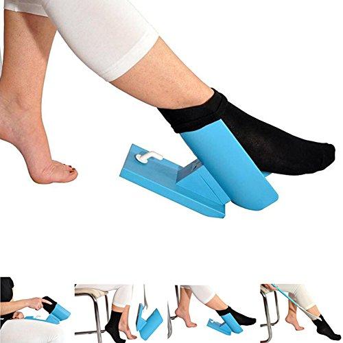 Wandofo calcetín Deslizante de plástico fácil de Poner y Quitar, Kit de Ayuda para Calzado, Calzador, Cuerno, no se dobla...