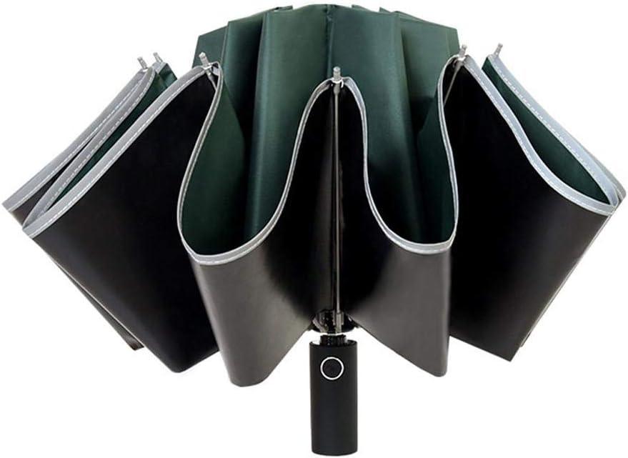 l Vestmon Parapluie Invers/é Parapluie Invers/é Parapluie Pliable Automatique Anti-UV Coupe-Vent avec Bande R/éfl/échissante Nocturne Plus Pratique DEntrer dans La Voiture