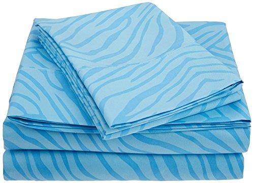 1800 Series 100% Brushed Microfiber, Deep Pocket, Wrinkle Resistant 4-Piece King Bed Sheet Set, Animal Print, (Leopard Print Animal Series)