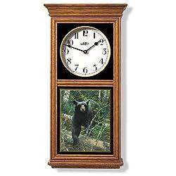 Bear Clock Regulator Clock by Michael Sieve