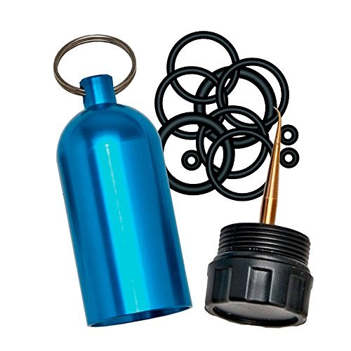 Innovative Scuba Concepts Diving Tank O-Ring Dive Kit Keychain with Pick, Blue (Scuba O-rings)