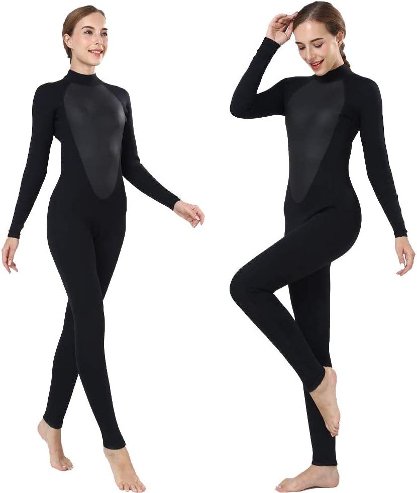 REALON Womens Wetsuit Full 3mm 2mm Neoprene Surfing Scuba Diving Snorkeling Swimming Suit