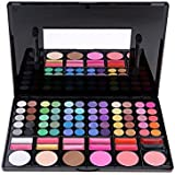 ACEVIVI 78 Colors Eyeshadow Eye Shadow Palette Makeup Cosmetic Set with 12 Lipsticks and 6 Blush, P78 - Ideal for Professional and Daily Use