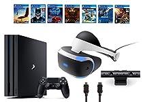 PlayStation VR Bundle 10 Items:VR Headset,Playstation Camera,PS4 Pro 1TB,7 VR Game Disc Until Dawn: Rush of Blood,EVE: Valkyrie, Battlezone,Batman: Arkham VR,DriveClub,Combat League,Eagle Flight