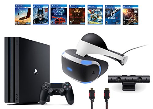 PlayStation-VR-Bundle-10-ItemsVR-HeadsetPlaystation-CameraPS4-Pro-1TB7-VR-Game-Disc-Until-Dawn-Rush-of-BloodEVE-Valkyrie-BattlezoneBatman-Arkham-VRDriveClubCombat-LeagueEagle-Flight