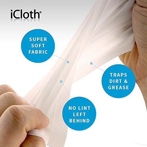 iCloth Screen Cleaner and Protector - Regular size for optical clarity on a laptop, a Chromebook, a tablet, a smartphone, a camera and electronic displays | iC100 | 100 cleaning wipes per box