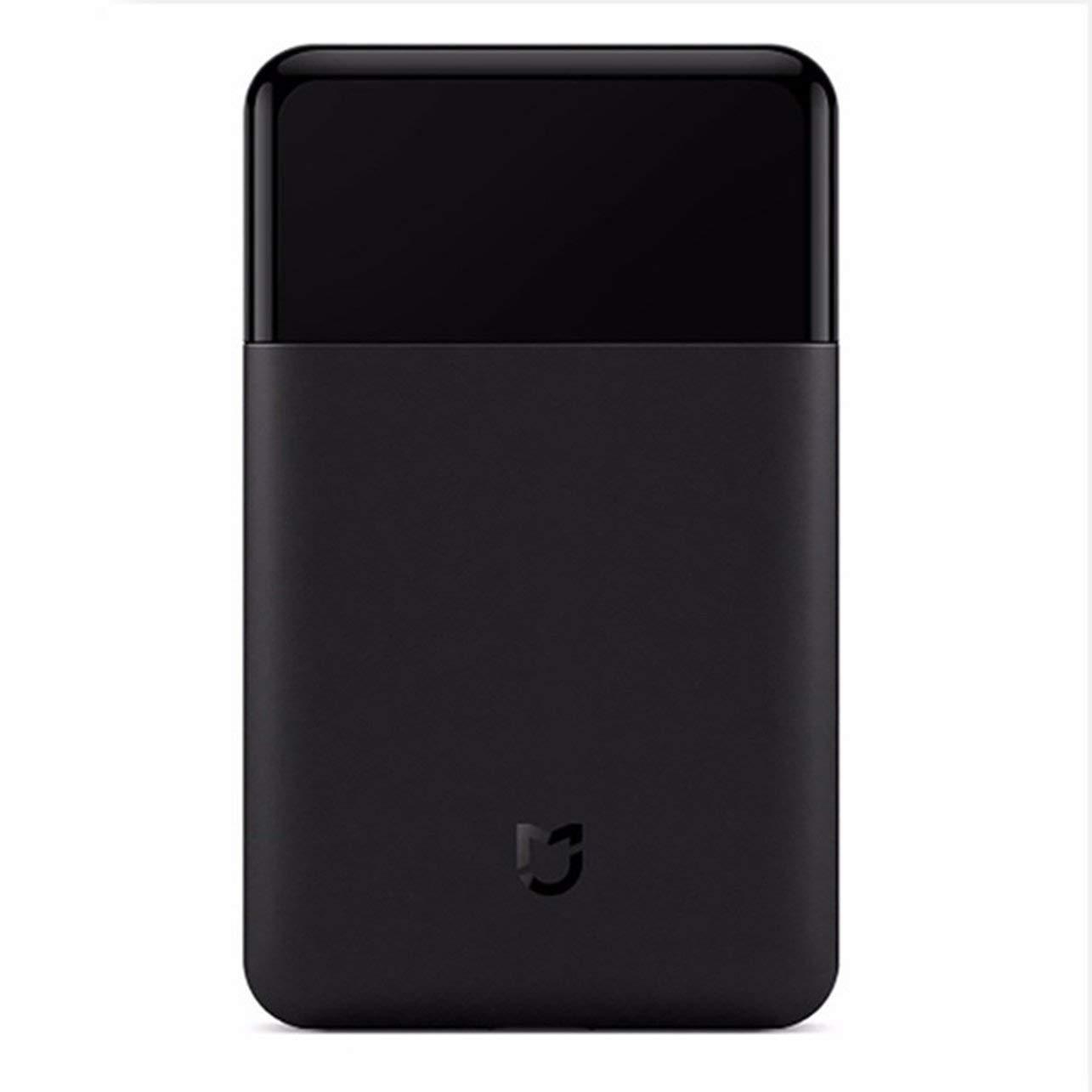 Xiaomi Mijia Mini Portable Men Electric Shaver Razor Fully Metal Body Japan Bit USB Type-C Rechargeable Travel Shaver(Color:Black) WOSOSYEYO