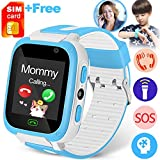 Cheap Kids Phone Smart Watch with FREE Speedtalk SIM Card 9 Game SOS Tracker Camera 1.4″ Touch Girl Boy Toddlers Digital Fitness Watch Wrist Cellphone Watch Bracelet for Outdoor Travel Summer Birthday