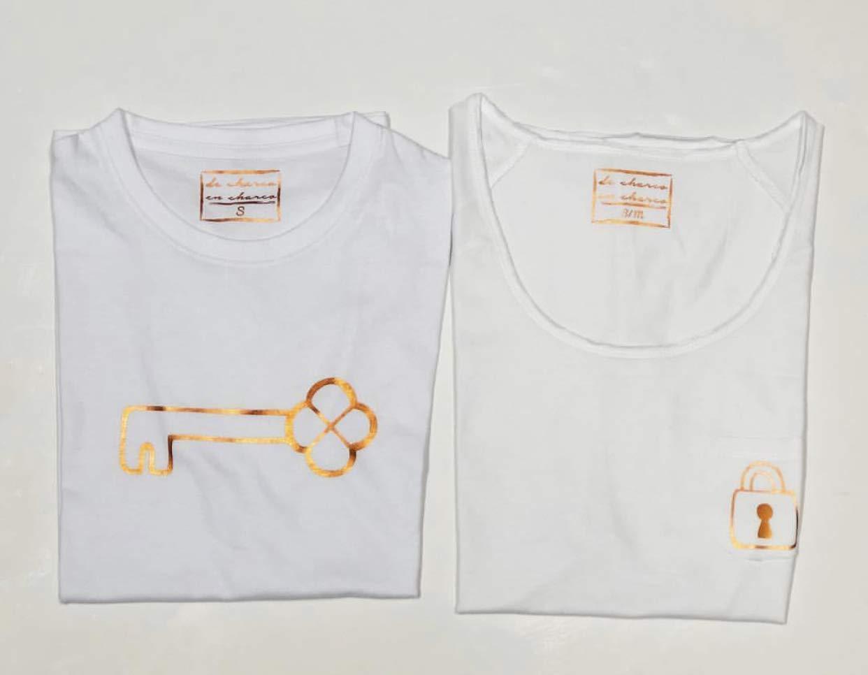 PACK Camisetas M/C Candado-Llave (Adulto + Niño/Niña o Bebé): Amazon.es: Handmade