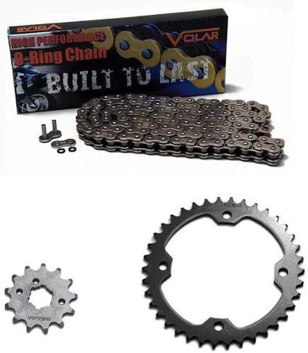 Volar O-Ring Chain and Sprocket Kit Nickel 2001-2013 Yamaha YFM350R Raptor 350
