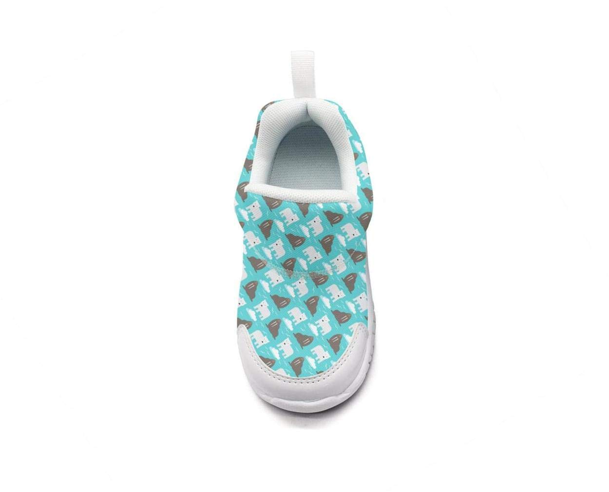 ONEYUAN Children Polar Bear and Seal Animal Kid Casual Lightweight Sport Shoes Sneakers Running Shoes