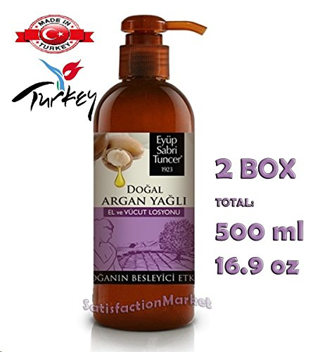 Natural Argan Oil Hand and Body Lotion 250 ml Made in Turkey Eyup Sabri Tuncer - Economy Mail Tracking