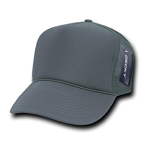 Foam Trucker Hat Cap - DECKY Solid Foam Trucker Cap, Charcoal