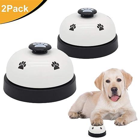 AK KYC 2 Timbres de Perro Campanas de Entrenamiento para Mascotas para Perros Gatos Potty Training
