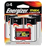 Energizer E95BP4 Max D4 Batteries