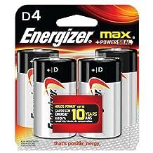Energizer E95BP4 Max D4 Batteries